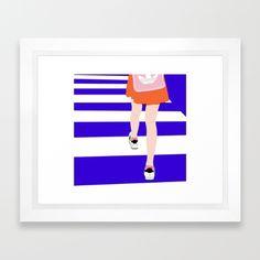 ROAD Framed Art Print Celéste
