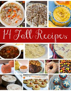 14 of The Best Recipes to Make This Fall. Soups and stews, main dishes, pumpkin desserts and more!