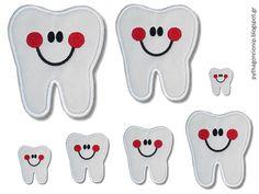 Σειροθετηση με δοντακια Oral Health, Dental Health, Health Unit, Health Activities, Busy Book, Tooth Fairy, Felt Dolls, Cool Kids, Teeth