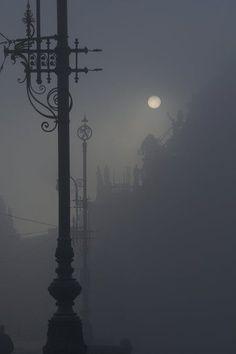 Foggy moonlight