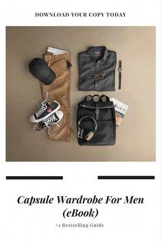 61dda17a612d Capsule Wardrobe For Men (eBook)  capsulewardrobe  mensfashion  fashion   mensfashiontrends Stylish