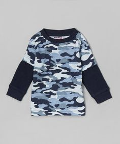Love this Mish Mish Navy Camo Layered Tee - Infant, Toddler & Boys by Mish Mish on #zulily! #zulilyfinds