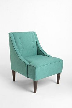what a difference a little tufting makes. remember this when you are scoping out chairs at flea markets, good wills & re-sale shops.