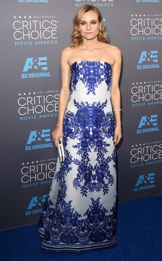 LOVE Diane Kruger's symmetric style at the Critics' Choice Awards!