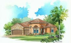 Toscana Elevation 'C' - Lennar Homes Treviso Bay Naples FL