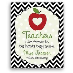 Personalized Teachers Are Special 11 inch x 14 inch Canvas, Multicolor