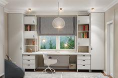 kid bedroom on Behance Small Room Design, Home Room Design, Kids Room Design, Home Office Design, Interior Design Living Room, Cozy Home Office, Home Office Decor, Home Decor Bedroom, Office Setup