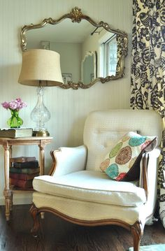 Makes me feel like reading a good book. Want a chair like this for master bedroom corner.