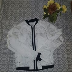 Nike dri fit running jacket Nike dri fit running jacket! Brand new !:) 100%recycled polyester! Nike Jackets & Coats