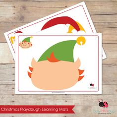 Christmas playdough learning mats by Busy Little Bugs.
