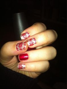 Holiday nails take 1
