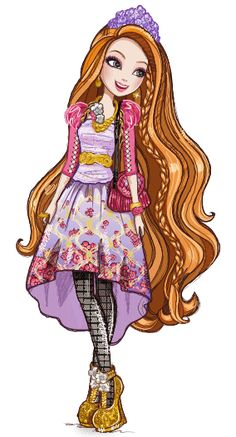 Ever After High - Royals 👑 Holly O'Hair (Daughter of Rapunzel) Ever After High, Darling Charming, High E, Lizzie Hearts, Mattel Shop, That Poppy, Font Design, Raven Queen, After High School