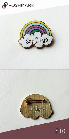 "Vintage San Diego Rainbow Enamel Pin San Diego Rainbow Pin Size: 1 1/4"" x 1"" Condition: Very good Vintage Accessories"