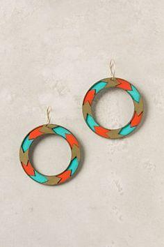 Chevron Feather Earrings