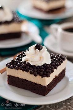 Rich Espresso Mousse Brownies