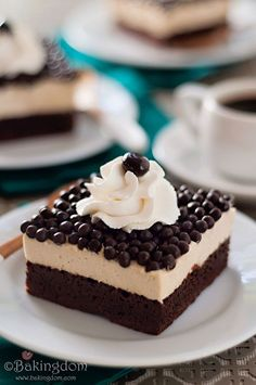 Espresso Mousse Brownies. #food #brownies #coffee