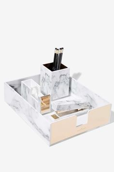 Rachel George Robertson Marble Desk Tray - Gifts   Gifts   The Girl Boss   All Gifts