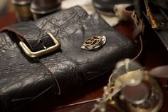 SteamPunk Journal 6x8 Black Leather Buckle by Twisted2011