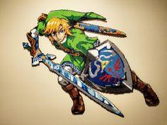 Post with 915 views. First large piece Link from Zelda. Pearler Bead Patterns, Perler Patterns, Pixel Art Objet, The Legend Of Zelda, Pix Art, Peler Beads, Fusion Beads, Pixel Pattern, Iron Beads