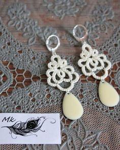 new earrings .....#tatting #frivolite #earrings #tattinglace #handmadejewelry #frivolité#needletatting