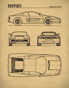 The Prestige of Italian Sports Cars Ferrari, New Sports Cars, Sport Cars, Blueprint Drawing, Automobile, Preppy Car, First Time Driver, Industrial Design Sketch, Car Design Sketch