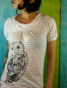 I freaking love this shirt! Owl Shirt by MoxieMadness on Etsy