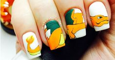 Get some inspiration for you next manicure -- if you're a Pokemon fan.