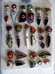Another batch of earrings by Jim Dunakin