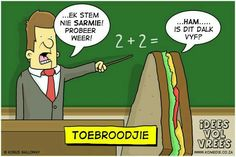 Idees vol vrees Afrikaans, Family Guy, Humor, Comics, Words, Funny, Fictional Characters, South Africa, Van