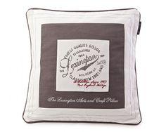 Lexington cotton twill sham with Lexington Company print and embroidery.