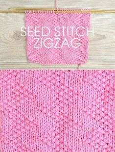 Free instructions for knitting the zigzag seed stitch. 10 row repeat.I think this would be great for a baby blanket or a shawl or just about anything.