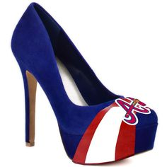 Wow! Look at these awesome heels for female sports fans! Now in Braves!