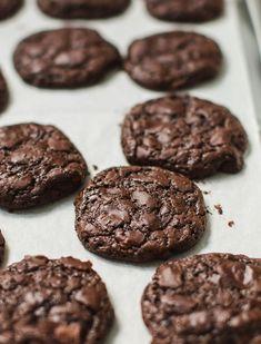 Chocolate fudge cookies- like brownies in a cookie!