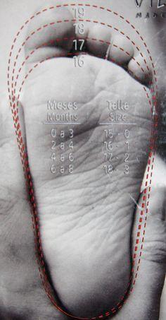 Baby Shoe Size Chart medidas zapatitos bebe