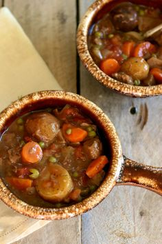 Slow Cooker Beef Stew- Used Beef Substitute to make Vegetarian Version. Not as thick, but still good!