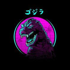Retro Godzilla Face Men's T-Shirt Godzilla Tattoo, Godzilla Godzilla, Godzilla Wallpaper, Japanese Pop Art, Retro Waves, Classic Monsters, Demon Slayer, Graphic Design Posters, Les Oeuvres