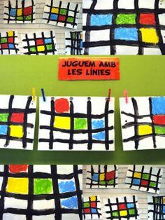 Mondriaan met logiblocs en vlechtrepen. Via obs_koppel. | Kunst ...