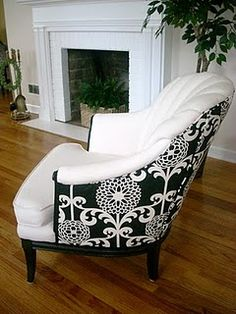 """""""Reupholster a tired existing piece of furniture in a beautiful fabric – an easy quick fix to lift a room"""""""