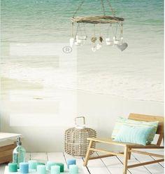 fotobehang duinen met uitzicht op het strand en zee – creadome, Deco ideeën