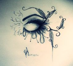 Deep sad quotes and drawings: ideas about easy pencil drawings on pin Love Drawings Tumblr, Cool Eye Drawings, Easy Pencil Drawings, Easy Drawings Sketches, Sad Drawings, Sad Sketches, Hipster Drawings, Amazing Drawings, Easy Drawings For Beginners