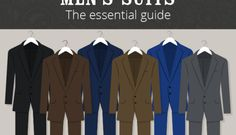 The essential guide to mens suits - infographic