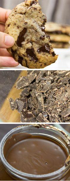 Ein Biss und du wirst direkt auf den weichen, schokoladigen Kern beißen. Das Nutella ist weich, süß und leicht nussig