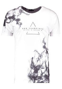 New Look SAN FRAN SMOKE - T-shirt z nadrukiem - white - Zalando.pl