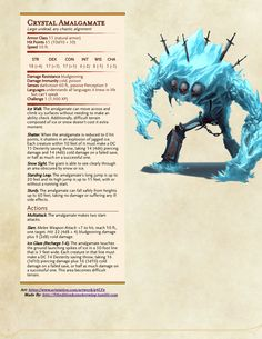 Dungeons & Dragons ideas, inspiration, and brainstorming Dungeons And Dragons Classes, Dungeons And Dragons Homebrew, Dungeons And Dragons Characters, Dnd Characters, Ice Monster, Monster Art, Cool Monsters, Dnd Monsters, Mythical Creatures Art
