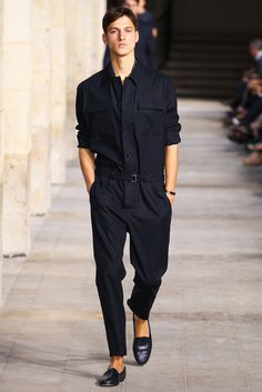 Hermès Spring 2014 Menswear - Collection - Gallery - chic coverall jumpsuit