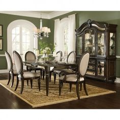 Pulaski Reflexions Dining Room Table Set with 2 Arm Chairs and 6 Side Chairs  sc 1 st  Pinterest & Ortanique Dining Room Set | Inspired Dining Rooms | Pinterest ...