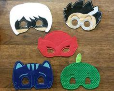Bedtime Hero/Villian Masks (Set of 5) by SierrasNiftyCrafts on Etsy