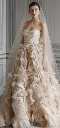 : wedding dress find help ivory please wedding dress wedding gown white Wedding Dress Monique Lhuillier Bridal Gowns Spring 2012 Waltz 575 Full Romantic blush pink Monique Lhuillier wedding dress Princess Style Wedding Dresses, Wedding Dress Trends, Wedding Dress Styles, Designer Wedding Dresses, Princess Wedding, Monique Lhuillier, Bridal Collection, Dress Collection, Spring Collection