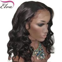 Elva 150% Density Lace Front Bob Wig Pre Plucked Hairline 13x6 Brazilian Bouncy Curly Remy Short Human Hair Wigs With Baby Hair