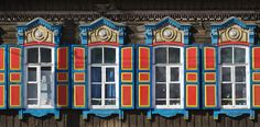 Isba (old style wood house), Irkutzk, Buryat, Siberia, Russia